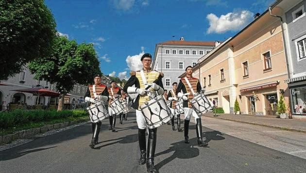 Das Trommlerkorps marschiert Samstag durch die Innenstadt, es gibt tolle Showeinlagen (Bild: Stadtgemeinde St. Veit)
