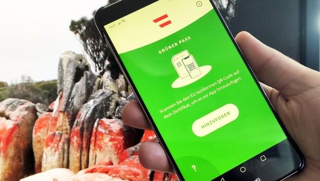 """Nach der Veröffentlichung der Android-Version gibt es die """"Grüner Pass""""-App nun für alle wichtigen Mobilbetriebssysteme. (Bild: Dominik Erlinger)"""
