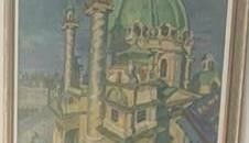 """Das Bild """"Karlskirche"""" von G. Pevetz ist eines der verschwundenen Gemälde. (Bild: privat)"""