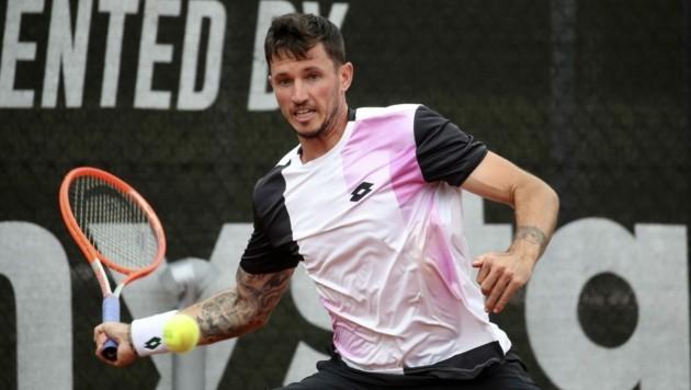 """Der Kampf vom Dennis Novak bei den """"Salzburg Open"""" in Anif blieb unbelohnt. (Bild: Tröster Andreas)"""