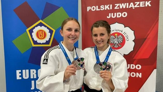 Hanna und Paula Peinsipp strahlten über Silber (Bild: Presse/Judo Steiermark)