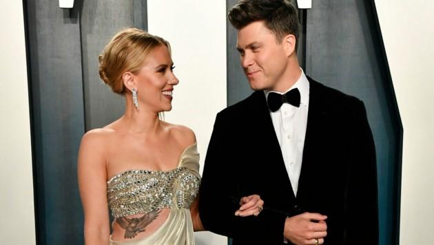 Scarlett Johansson und Colin Jost (Bild: AFP/Getty Images)