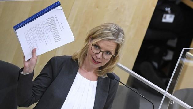 Klimaschutzministerin Leonore Gewessler (Grüne) (Bild: APA/ROBERT JAEGER)
