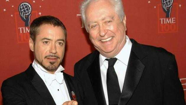Robert Downey Jr. und sein Vater Robert Downey Sr. bei einer Gala im Jahr 2008. (Bild: AP)