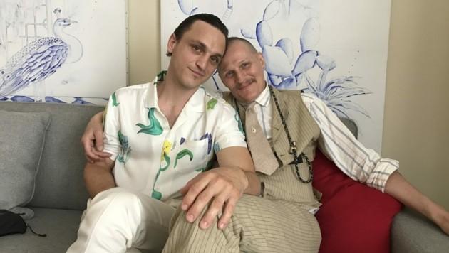 """Die beiden Hauptdarsteller des Films """"Große Freiheit"""", Franz Rogowski (l.) und Georg Friedrich (Bild: APA/WOLFGANG HUBER-LANG)"""