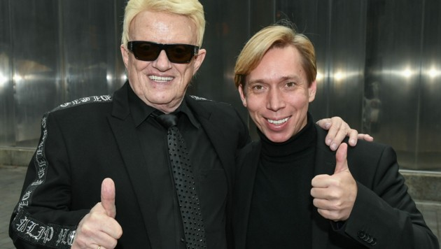 Heino mit Helmut Werner (Bild: Jens Kalaene / dpa / picturedesk.com)
