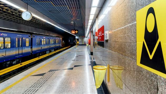 Die blaue U-Bahn-Linie 2 in Teheran (Symbolbild) (Bild: stock.adobe.com)