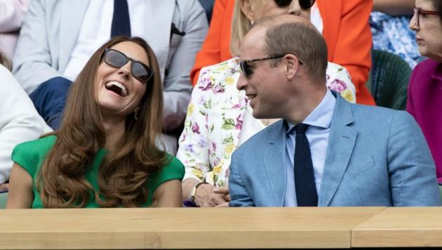 Prinz William brachte Herzogin Kate im Wimbledon zum Lachen. (Bild: ©2021 Stephen Lock / i-Images/ Viennareport)