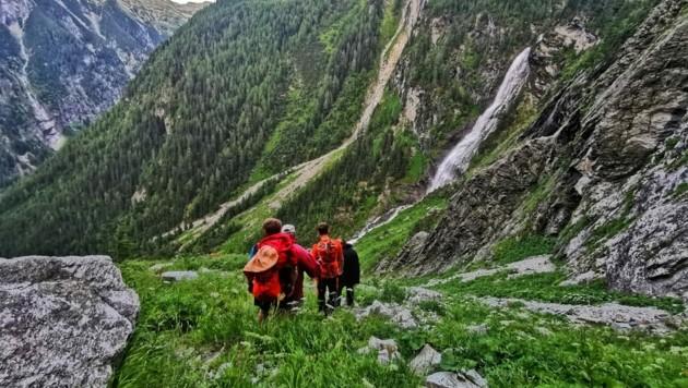 Die Bergretter waren auf 1650 Metern unterwegs. (Bild: Bergrettung Bad Gastein)
