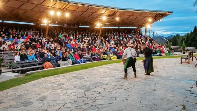 Das Huabn-Theater auf der Brandlucken (Bild: Harald Eisenberger)