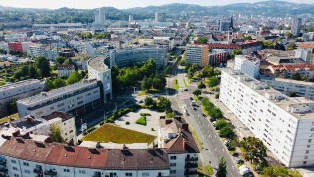 Der Bulgariplatz in Linz - was könnte man aus ihm machen? (Bild: zVg)