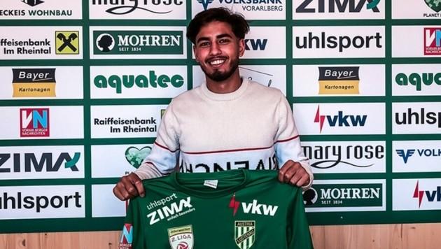 Der Franzose Hakim Guenouche hat 12 Länderspiele in der U17 der Équipe Tricolore auf dem Konto. (Bild: Austria Lustenau)