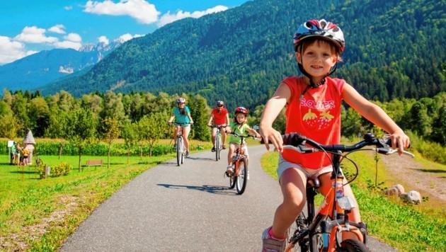 Im Gailtal wird vermehrt auf Radeln für Jung und Alt gesetzt. (Bild: tinefoto.com | martin steinthaler)