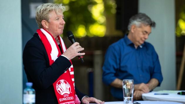 Sportunion-Präsident Peter McDonald (li.), Sportminister Werner Kogler (Bild: GEPA pictures)
