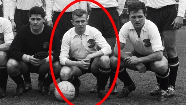 Erich Hasenkopf vor einem Länderspiel gegen Frankreich am 27. März 1960 in Wien (Bild: Votava / Imagno / picturedesk.com)