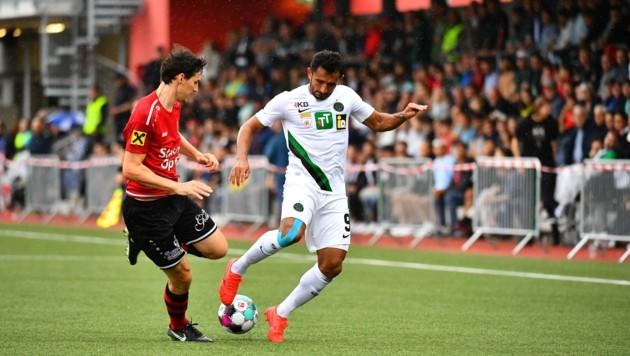 Goalgetter Ronivaldo (rechts) eröffnete mit einem herrlichen Kopfball-Treffer die Torflut. (Bild: Amir Beganovic)