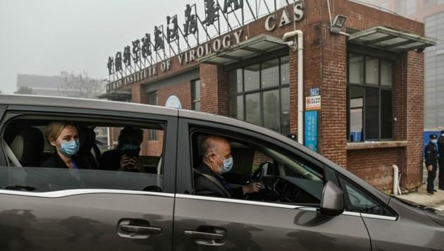 Ein WHO-Team reiste im Februar nach Wuhan um den Ursprung des Coronavirus aufzuspüren. (Bild: APA/AFP/Hector RETAMAL)