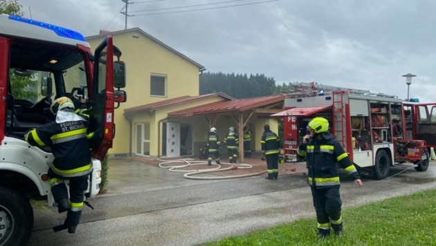 Die FF Feistritz ob Bleiburg hatte den Brand schnell unter Kontrolle. (Bild: FF Feistritz ob Bleiburg)