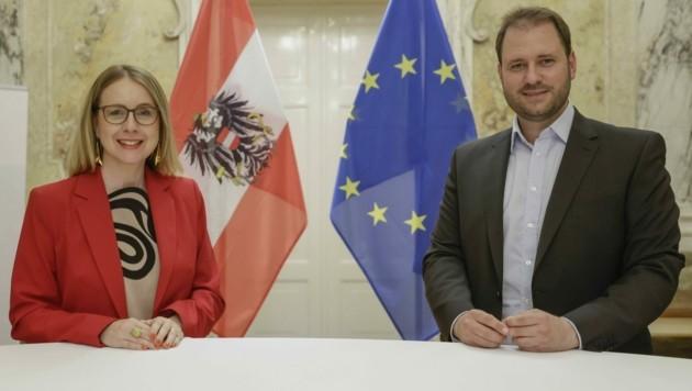 Ministerin Schramböck sprach mit Sagartz über Investitionen (Bild: ÖVP)