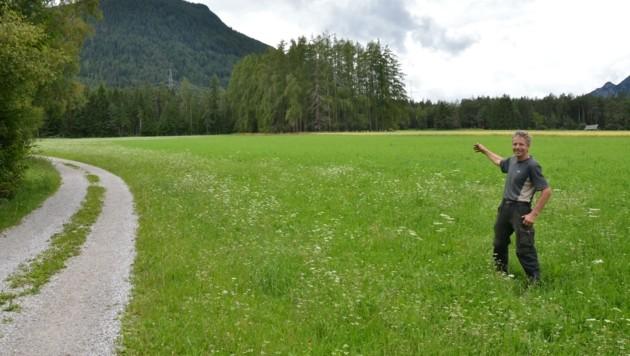 Die Von Leo Gapp angebotene Ersatzfläche hätte Wald als Sonnenschutz und Abstand vom Siedlungsraum geboten (Bild: Daum Hubert)