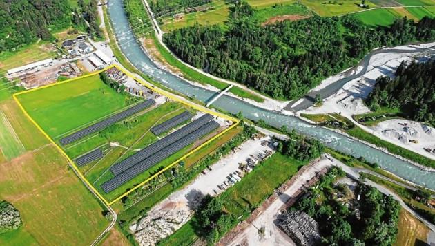 Zwischen Altstoffsammelzentrum, Kläranlage und Groß-Tanklager liegt die Sonnenfarm (Bild: Bernhard Klauss)