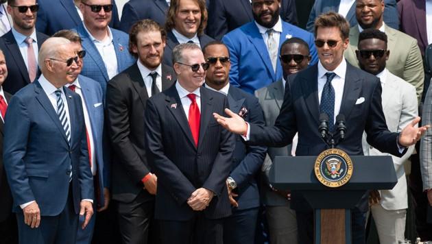 Tom Brady (re.) (Bild: APA/AFP/SAUL LOEB)