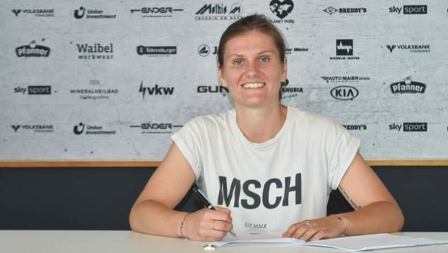 Die 1,66m große Stürmerin Viktoria Pinther freut sich auf die Rückkehr in die Österreichische Frauen Bundesliga. (Bild: SPG SCR Altach / FFC Vorderland)