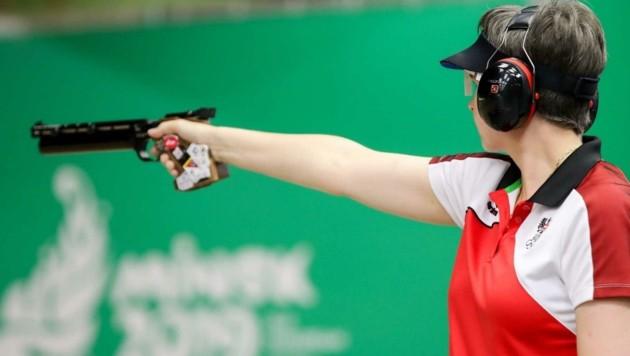 Schützin Sylvia Steiner hat bei den Sommerspielen in Tokio zwei Medaillenchancen. (Bild: GEPA pictures/ Christian Walgram)