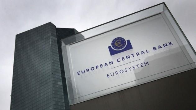 Die Zentrale der Europäischen Zentralbank in Franfurt am Main (Bild: APA/AFP/Daniel ROLAND)