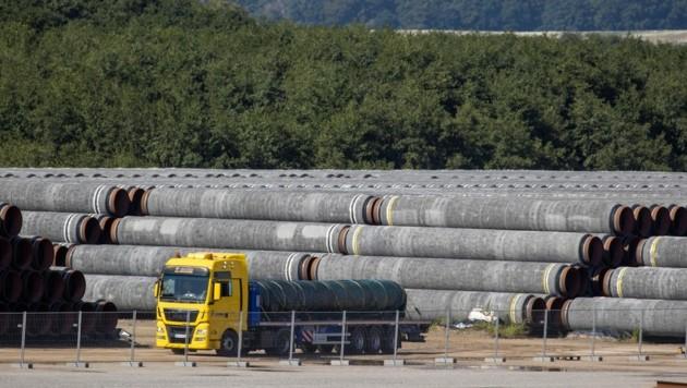 Nach der Einigung zur Ostseepipeline Nord Stream 2 erklärte sich der Kreml bereit zu Verhandlungen über einen Gastransit durch die Ukraine. (Bild: AFP)