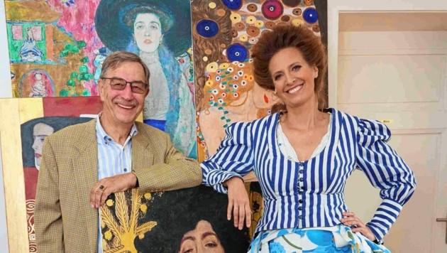 """Alma Who?"": Klimt-Nachfahre Huber mit Maxi Blaha. (Bild: Starpix/ Alexander TUMA)"