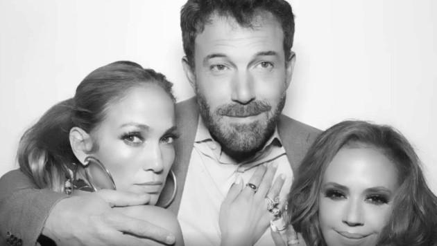 Jennifer Lopez und Ben Affleck feiern mit Leah Remini. (Bild: instagram.com/leahremini)