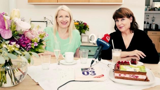 Martina Rupp spricht mit Claudia Stöckl über ihren Abschied bei Ö3 (Bild: Thomas Wunderlich/Ö3)
