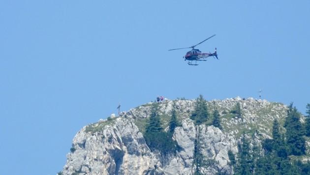 Vom Hubschrauber aus wurde der Landecker am Säuling tot gefunden. (Bild: ZOOM.TIROL)
