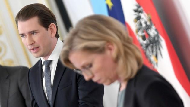 Beim Thema Klimaschutz gehen die Meinungen von Kanzler Kurz (ÖVP) und Umweltministerin Gewessler (Grüne) auseinander. (Bild: APA/ROLAND SCHLAGER)