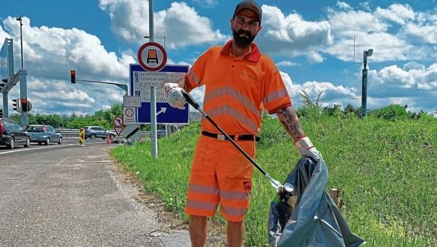 Massimo Musumeci von der Autobahnmeisterei Graz-Raaba (Bild: Asfinag)