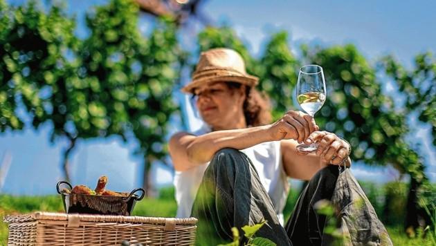 Einheimische wie Touristen lieben das steirische Weinland (Bild: Tom Lamm/Steiermark Tourismus / ikarus.cc)
