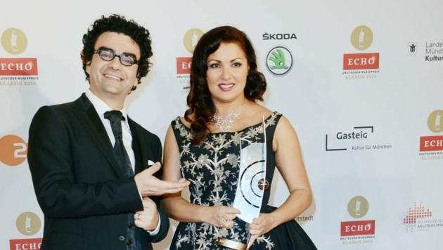 """Villazon und Netrebko bei den """"Echo""""-Awards (Bild: www.viennareport.at)"""