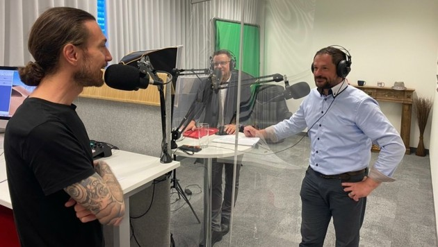 """Lufttechnik Pichler zu Gast bei """"Krone""""-Podcaster Peter Kleinrath (Bild: Elisa Aschbacher)"""