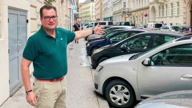 Weyringergasse: Pasquali (ÖVP) fürchtet um 30 Parkplätze (Bild: ÖVP Wieden)