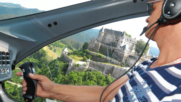 Der Blick von oben - wie hier auf die Burg Hochosterwitz - ist spektakulär und macht Laune! (Bild: Uta Rojsek-Wiedergut)