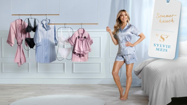 Die neue Unterwäsche-Kollektion von Sylvie Meis ist ab 5. August in Österreich erhältlich. (Bild: ALDI)