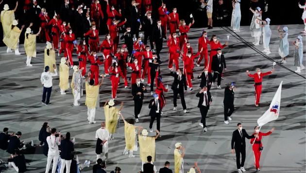 Russische Athleten müssen weiter unter neutraler Flagge starten (Bild: Copyright 2021 The Associated Press. All rights reserved)