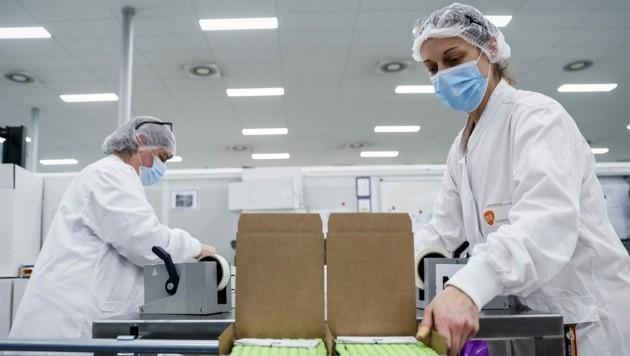 In der Fabrik von GlaxoSmithKline (Bild: AFP)