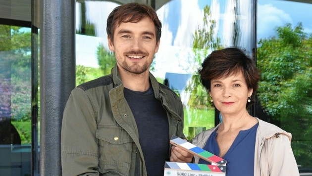 Katharina Stemberger und Daniel Gawlowski ermitteln in 13 grenzübergreifenden Fällen in neuer ORF/ZDF-Krimiserie. (Bild: ORF)