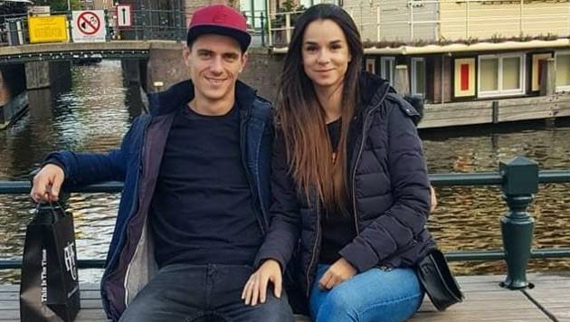Kann wieder lächeln: Luki Jaklitsch. Herzdame Livia fuhr ihn sofort ins Spital. (Bild: ZVG)