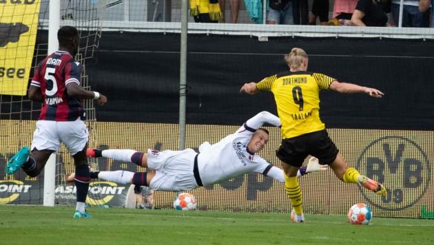 Dortmund-Superstar wirbelte, traf aber nicht im Test gegen Bologna. (Bild: Maurice Shourot)