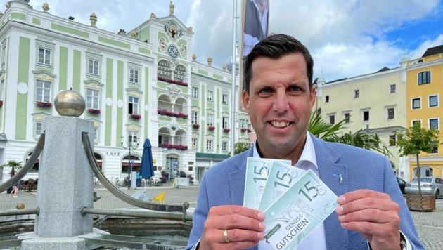 Gmundner Bürgermeister Stefan Krapf (ÖVP) (Bild: Stadtgemeinde Gmunden)