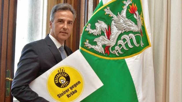 Bürgermeister Siegfried Nagl bezieht im Kampf gegen die Atomgefahr klar Stellung. (Bild: Foto Ricardo, Richard Heintz 8010)