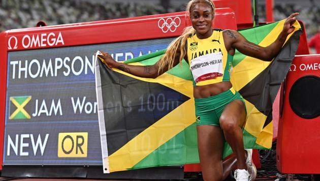Elaine Thompson-Herah (Bild: APA/AFP/Andrej ISAKOVIC)